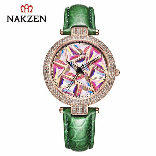 NAKZEN Luxury Brand Quartz Women Watches Fashion Leather Wristwatches