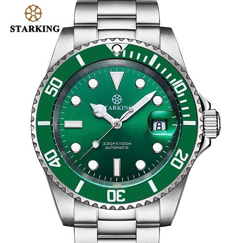 STARKING Mens Watch 100m Water Resistant Hot Green Ghost Watch Fashion