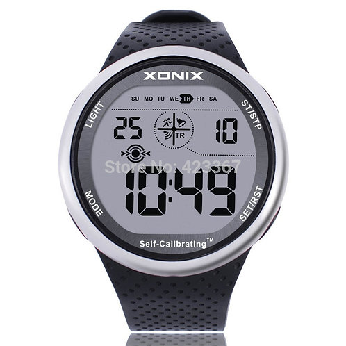 Mens Sports Watches Self Calibrating Digital Watch Waterproof 100m Multifunction