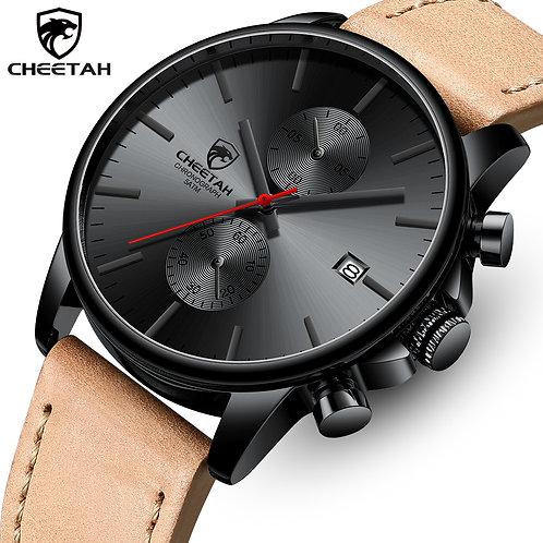 CHEETAH Men Watch Top Brand Luxury Fashion Leather Band Quartz Watches Mens