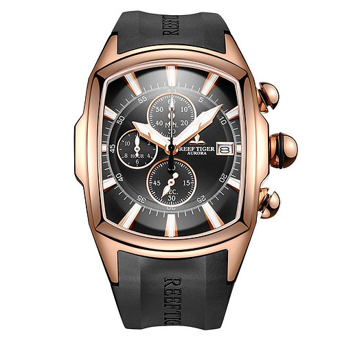 2020 Reef Tiger/Rt Luxury Waterproof Sport Watches Date Rose Gold Rubber Strap