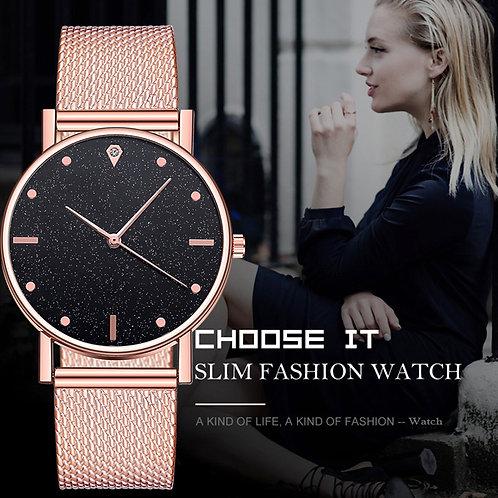 Watch Women Dress Stainless Steel Band Analog Quartz Wristwatch Fashion Luxury