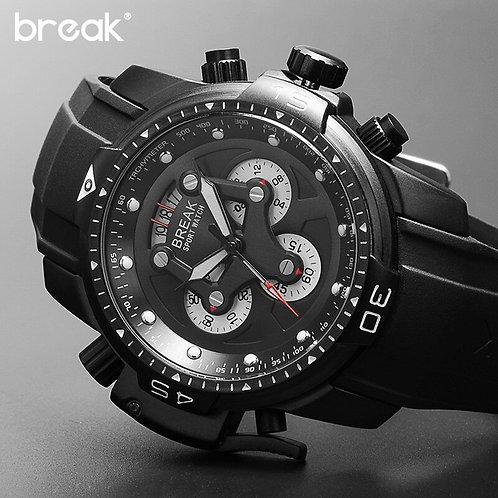 Break Chronograph Wrist Watch for Men Big Dial Date Mens Watch