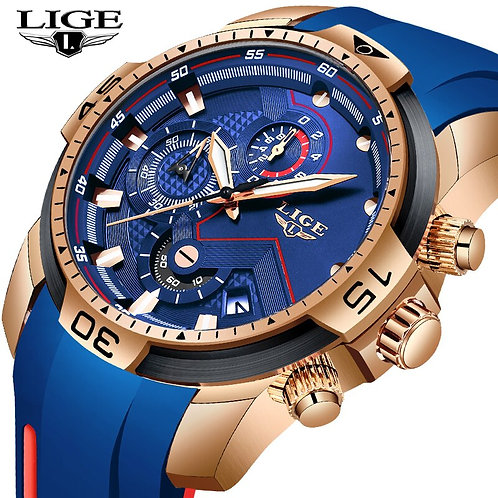 2019 LIGE Watches Men Business Watches Orologio Uomo Silicagel Band Wristwatch