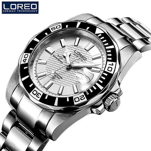 Horloges Mannen LOREO Watch Men Sport Waterproof 200m Automatic Mechanical Watch