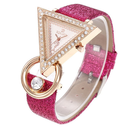 New 2020 Female Wristwatch Women Bracelet Watches Bling Diamond Triangle Dial