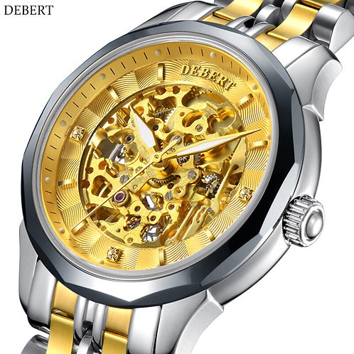DEBERT Watch Automatic Mechanical Movement Tungsten Steel Case Men's Watch