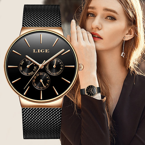 2019 Classic Women Rose Gold Top Brand Luxury Laides Dress Business Fashion