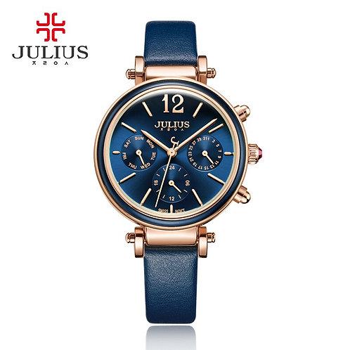Julius Brand Creative Watches Women Fashion Chronos Quartz Watch Retro