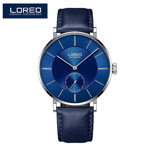 2020 LOREO Fashion Simple Mechanical Business Watch Men Top Brand Luxury Wrist