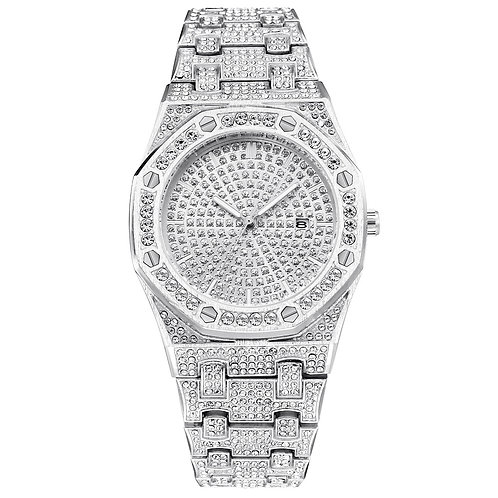 Classic Hip Hop Bling Diamond Men Watches ICED OUT Luxury Mens Quartz Watch