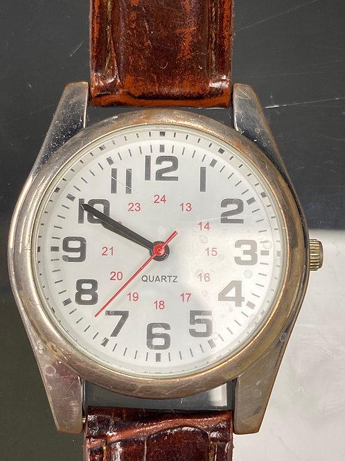 Men's Railroad Style Quartz Wristwatch