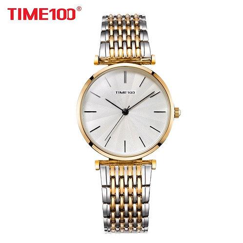 TIME100 2018 New Women Quartz Watches Analog Steel Mesh Strap Bracelet Watch