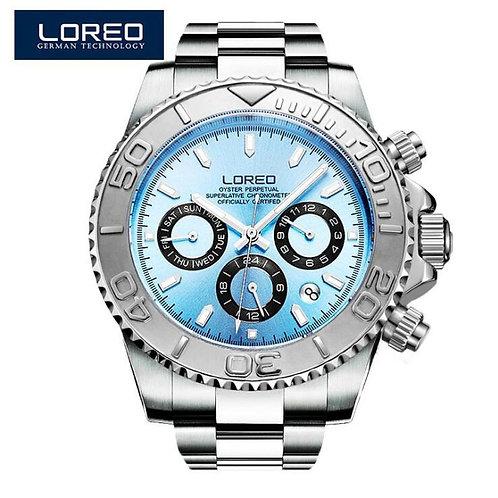 LOREO Diving Series Men Wrist Watch Top Luxury Brand 200M Waterproof Steel