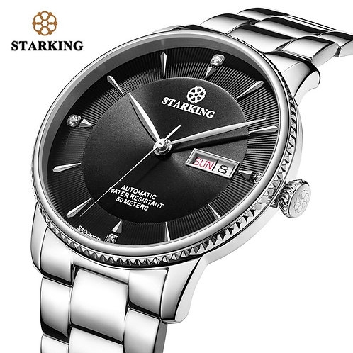 STARKING Automatic Mechanical Business Watch Men Seiko  Movt Sapphire Crystal