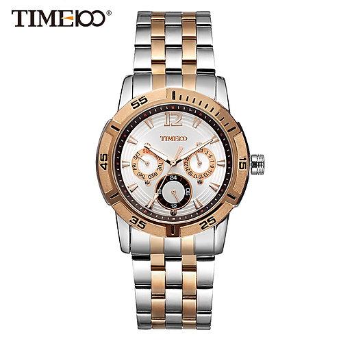 Time100 Men's Quartz Watch Stainless Steel Strap Wrist Watches for Men