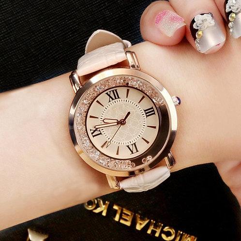 New Ladies Watch Rhinestone Leather Bracelet Wristwatch Women Fashion Watches