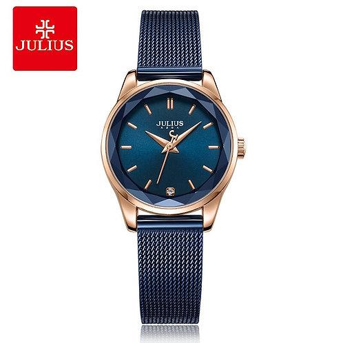 Top Julius Lady Women's Watch MIYOTA Fashion Hours Stainless Steel Bracelet