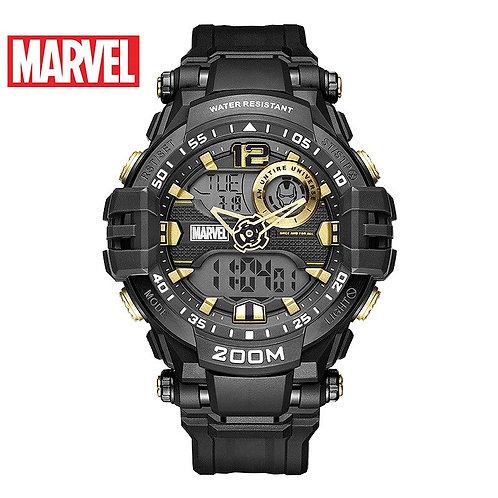 Disney Marvel Men's Watch Iron-Man Waterproof Digital Watch Trend Casual Multi