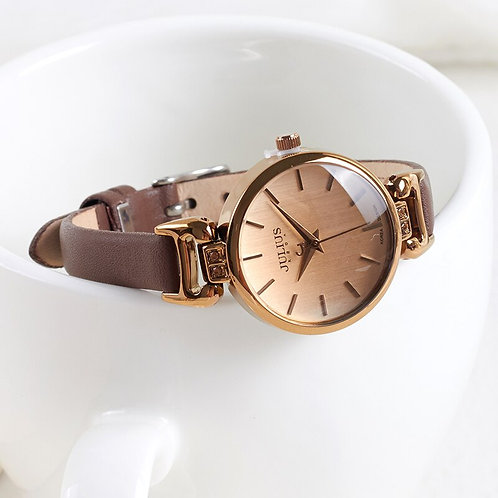 New Lady Women's Watch Japan Quartz Fine Fashion Hours Dress Bracelet Retro