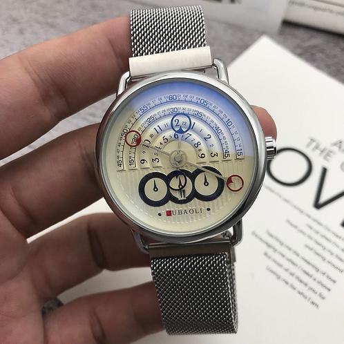 Brand Sport Watches for Men Large Dial Magnet Buckle Quartz Creative Wristwatch