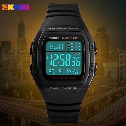 SKMEI Luxury Sport Mens Watch Fashion Digital Electronic Chrono Clock Waterproof