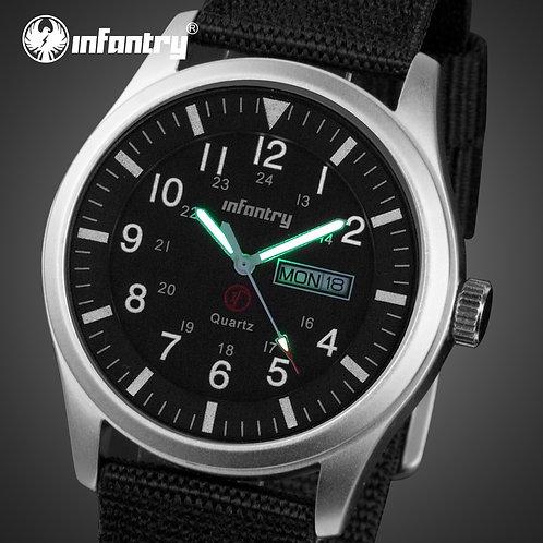 INFANTRY Mens Watches Top Brand Luxury Military Watch Men Date Waterproof Black