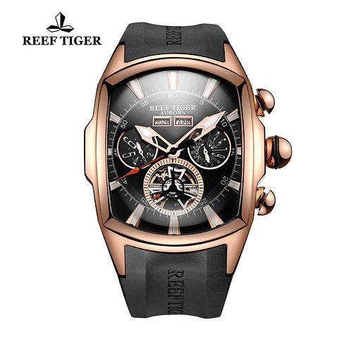 Reef Tiger/Rt Luxury Watches Men's Tourbillon Analog Automatic Watch RGA3069