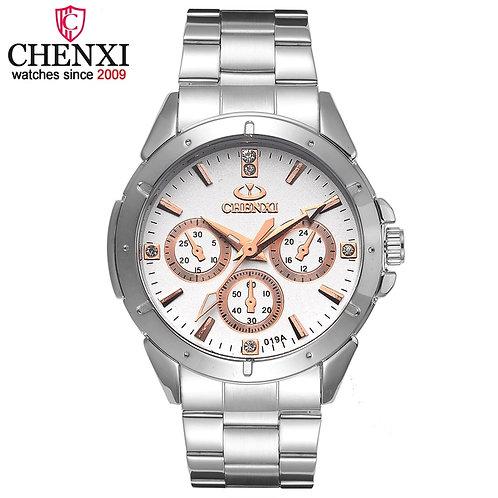 CHENXI Brand Quartz Watch Lover Top Luxury Gold Watches Men Clock Steel Women