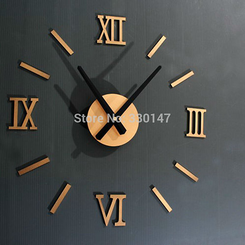 Rome Digital Number Wall Clock Diy 3d Mirror Silent Clock Acrylic