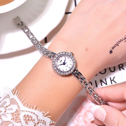 Silver Qualities Women Bracelet Watches Full Stainless Steel Fashion Luxury