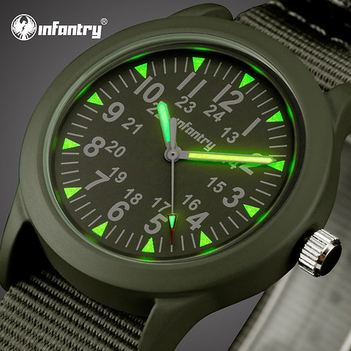 INFANTRY Mens Watches Top Brand Luxury Military Watch Men Army Nato Strap Watch