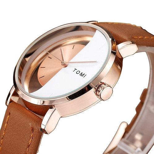 Unique Watch Creative Half Transparent Dial Unisex Watch for Men Women