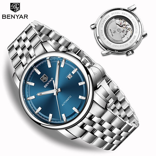 New BENYAR Men's Mechanical Watches Automatic Mens Watches Top Brand Luxury