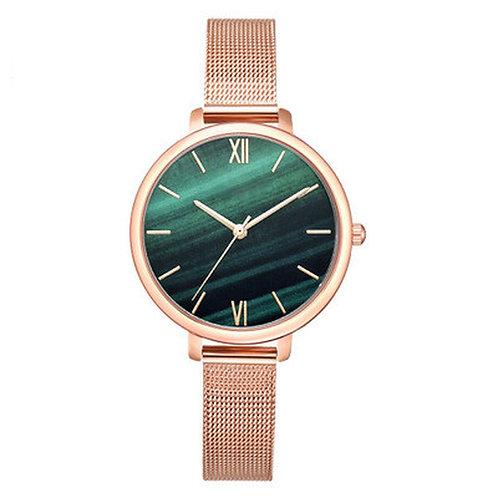 Luxury 1 PCS Watch Women Rose Gold Water Drill Bracelet Watch Jewelry Ladies