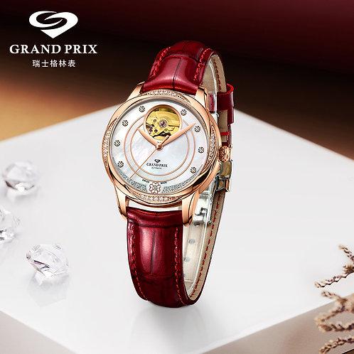 GRAND PRIX New Top Brand Mechanical Women Watch