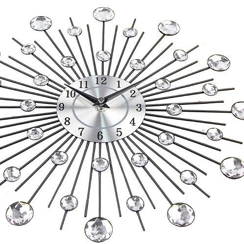 Vintage Metal Crystal Sunburst Wall Clock Large Morden Wall Clocks Design