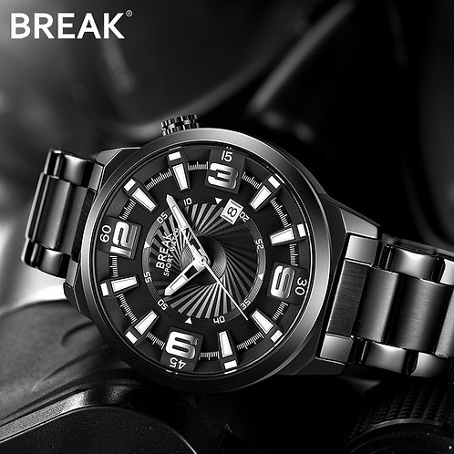 BREAK Men Creative Calendar Fashion Casual Analog Quartz Sports Wrist Watch