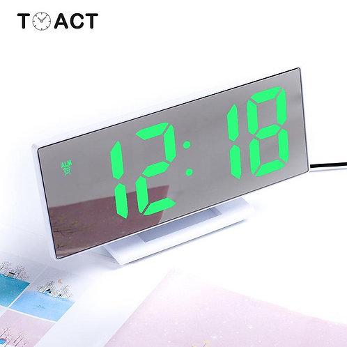 LED Mirror Digital Alarm Clock Electronic Watch Table Desktop Alarm Clocks
