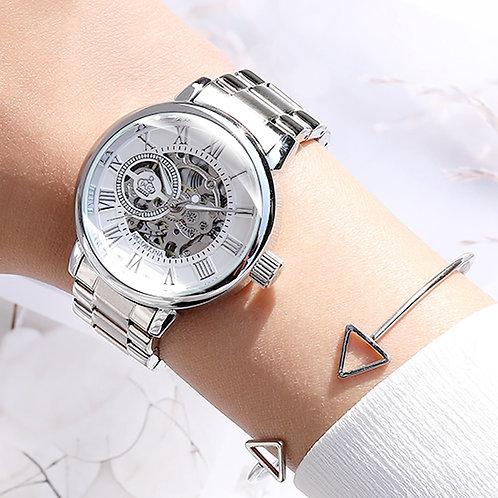 New Fashion Luxury Brand Skeleton Women Mechanical Watch Watch Women Automatic