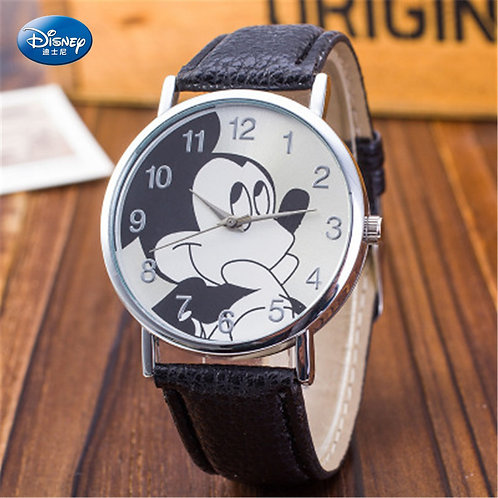 Disney Mickey Mouse Quartz Wristwatch Korean Style Fashion Simple Children's