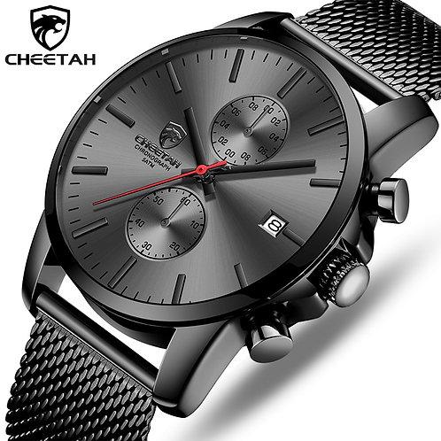 CHEETAH Brand Men Watch Fashion Business Quartz Wrist Watches Stainless Steel