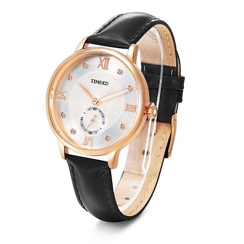 Time100 Fashionable Vintage Sparkling Leather Quartz Women Watch for Ladies
