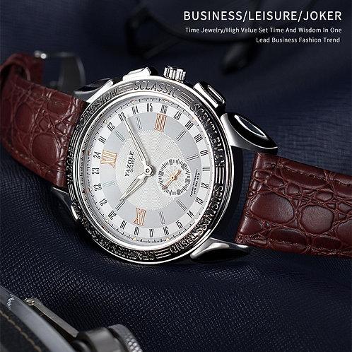 YAZOLE Watch Men Luxury Watch Leather Business Mens Watches Quartz Wristwatch