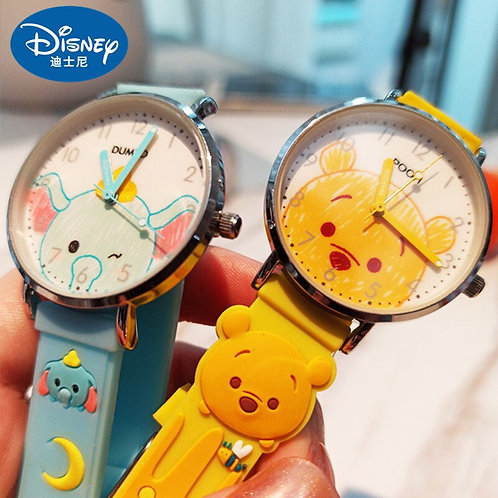 Disney Original Cartoon Dumbo Marie Cat Winnie Pooh Kids Boys Girls Quartz