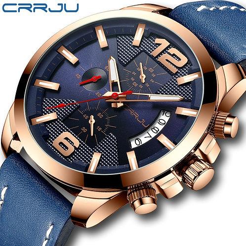 Top Luxury Brand CRRJU New Chronograph Men Watch Hot Sale Fashion Military Sport