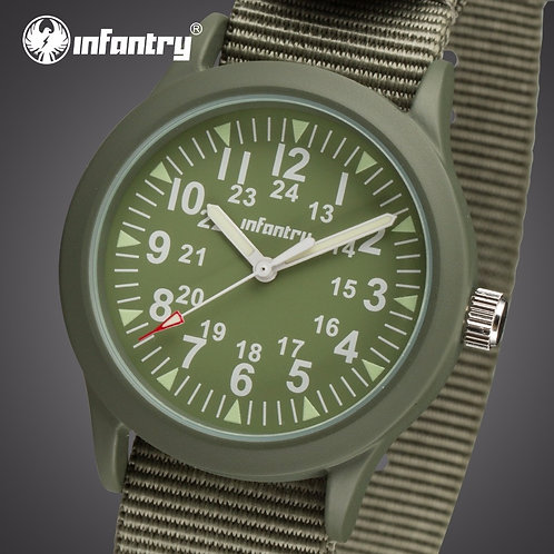 INFANTRY Mens Watches Top Brand Luxury Military Watch Men Tactical Army Luminous