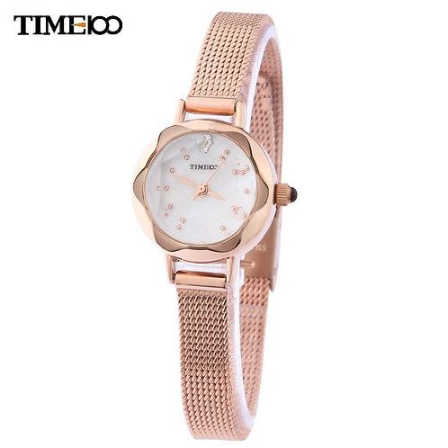 Fashion Time100 Luxury Women's Quartz Hand Watch Slim Mesh Strap Small