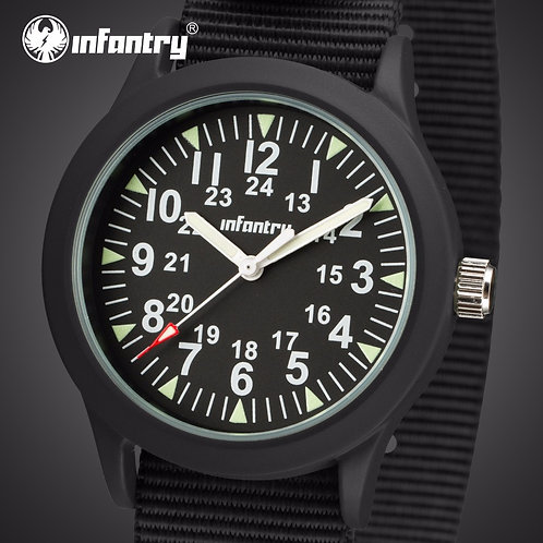 INFANTRY Mens Watches Top Brand Luxury Luminous Military Watch Men Army Watch