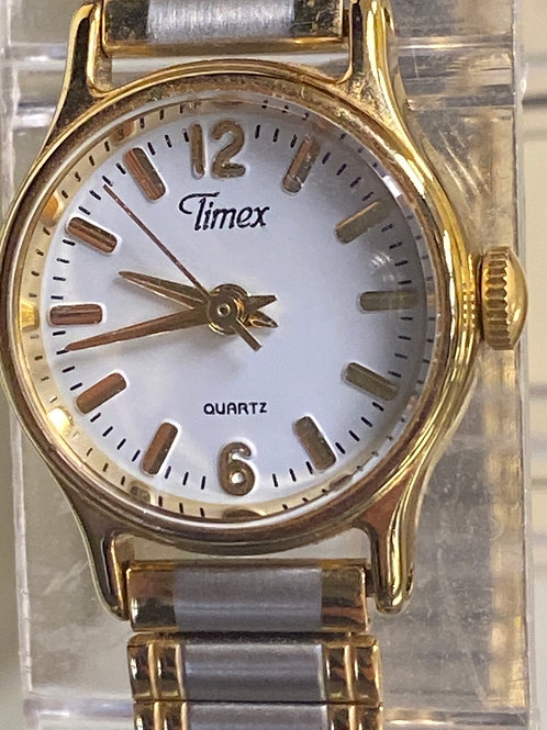 Timex Ladies Two Tone Quartz Stretch Band Analog